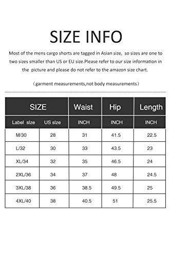 Cyparissus Mens Cargo Shorts Multi Pockets Short for Men (36,Khaki) by Cyparissus (Image #6)