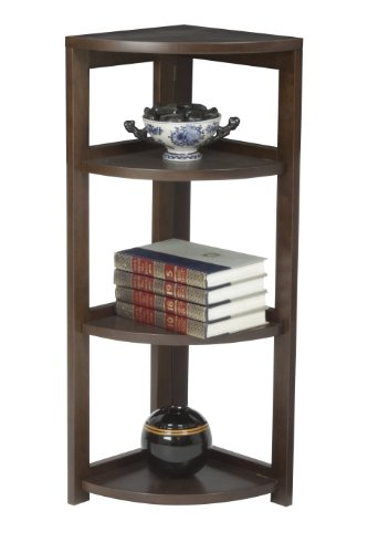 Regency Flip Flop 34-inch High Corner Folding Bookcase- Mocha (Solid Wood American Walnut Desk)