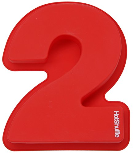 Large Silicone Number Cake Mould Baking Birthday Anniversary 0 1 2 3 4 5 6 7 8 9 (Number Cake Pans)