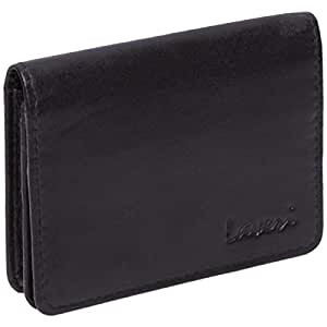 Laveri Genuine Leather Credit Card Holder Wallet Buttoned Wallet with Multiple Card Holder for Unisex - Leather, Black