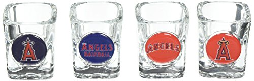 Baseball Square Shot Glass (MLB Los Angeles Angels Four Piece Square Shot Glass Set (Individual)