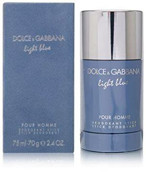 D G Light Blue Pour Homme Deodorant Stick by Dolce Gabbana Fragrance for Men Fresh Aromatic Mediterranean Scent 71 mL 2.4 oz
