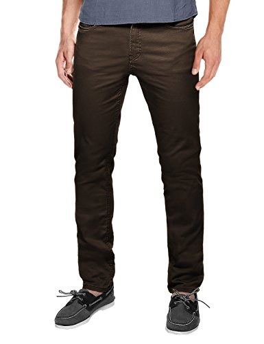 Straight Leg Casual Pants # 8032(Brown#2,36) ()