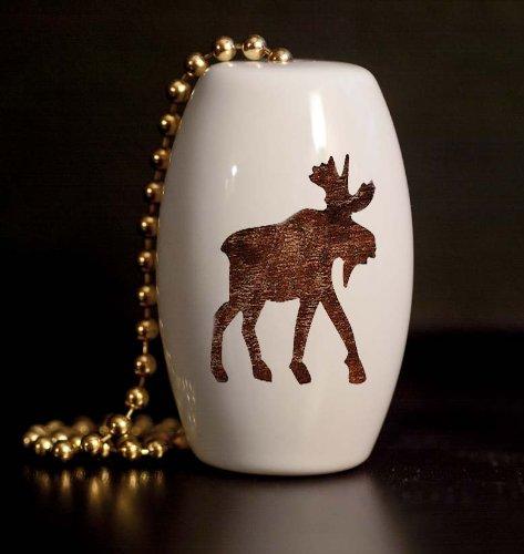 Woodland Moose Silhouette Porcelain Fan / Light