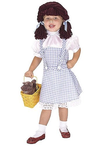 Girls Dorothy Wig (Dorothy Yarn Baby Costume: Toddler's Size 2T-4T)