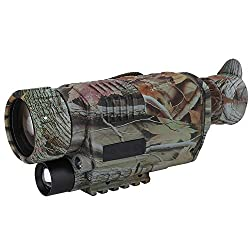Night Vision Monocular Kit, Portable Infrared Digital Monocular Telescope with Equipped Accessories for Outdoor Hunting Wildlife Secenery 100-240V