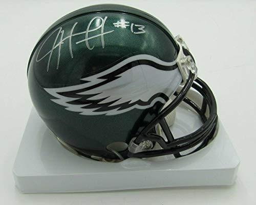 (Josh Huff Autographed Mini Helmet - Riddell PASS 142355 - Autographed NFL Mini Helmets)