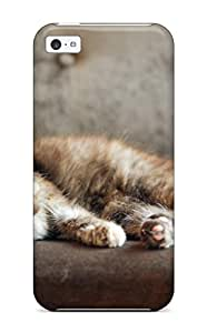 Fashion MEnZCNb22732MMUFF Case Cover For Iphone 5c(villainous Looking Cat) Sending Free Screen Protector
