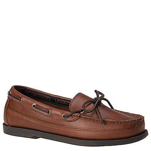 Life Outdoors Men's One-Eyelet Boat Shoe 10.5 D(M) US Brown Eyelet Mens Shoe