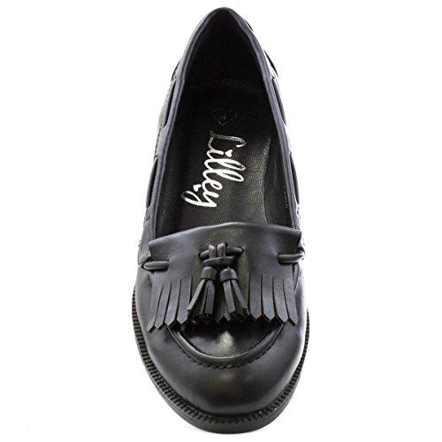 Lilley - Mocasín imitación cuero, negro, para mujer Lilley Negro