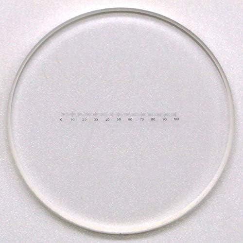919 Microscope Accessory Ruler mm Scale Ruler for Diameter Measurement Eyepiece Reticle Calibration Slide Mercury/_Group Color:1PC Diameter 24mm