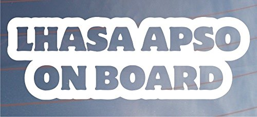 Lhasa Apso on Board Vinyl Decal