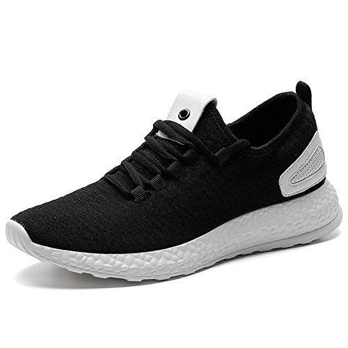 TIOSEBON Women's Light Weight Lace up Breathable Casual Sneaker Sports Running Shoes Walking Shoes for Women 10.5 US Black