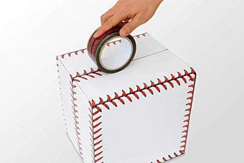 Adstape New Baseball Stitches Design Tape Cellophane Adhesive Baseball Tape Funny Home Decor -