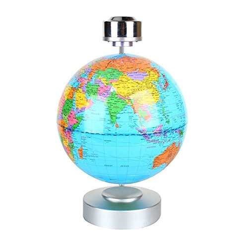Globes World, 8'' Magnetic Floating Globe With LED Light - Anti-gravity Levitation Rotating Planet Earth Globe Stylish Home Office Desktop Display Decoration (Blue) by Yosoo (Image #9)
