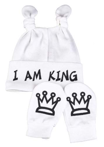 Spoilt Rotten - I Am King Knot Hat & Scratch Mits Baby Set