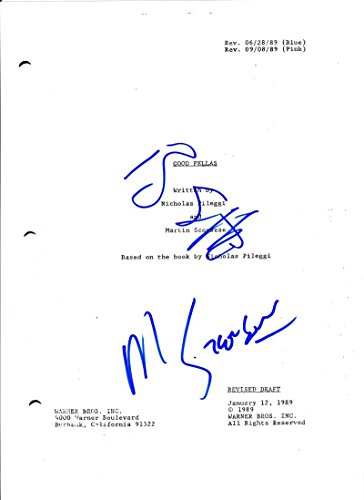 MARTIN SCORSESE RAY LIOTTA SIGNED GOODFELLAS SCRIPT AUTHENTIC AUTOGRAPH COA