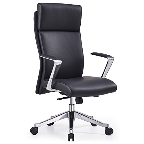 Adjustable Ergonomic Draper Leather Executive Chair with Alu