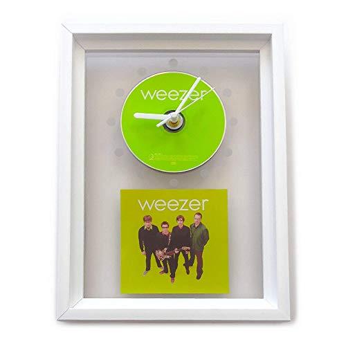 WEEZER - Green Album: FRAMED CD WALL CLOCK/With Cover Art Cd Album Cover Art