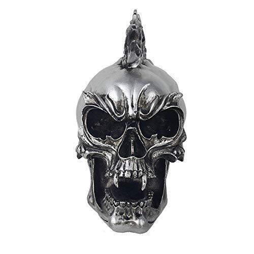 JJZSDSMW Personality Decor Punk Skull Sculpture, Rock Tattoo