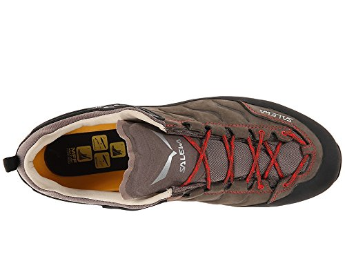 Salewa Men's Mountain Trainer Leather Approach Shoe, Bungee Cord/Firebrick, 9