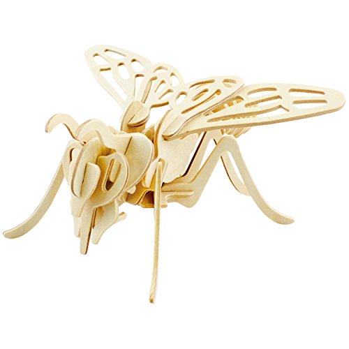 A-Parts The Bee DIY 3D Cut Model Kit- Wooden Puzzle