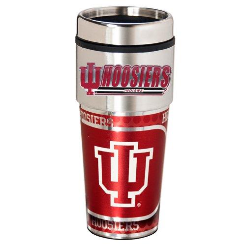 Metal Indiana Hoosiers (NCAA Indiana Hoosiers Metallic Travel Tumbler,  16-Ounce)