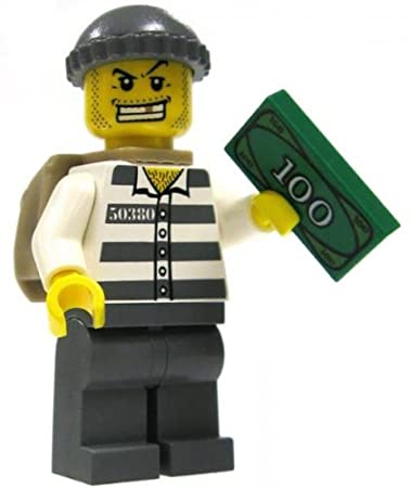 Lego Sack amazon com lego city mini figure bank robber with sack and
