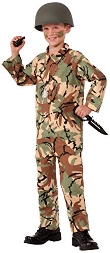 Child Army Soldier Military Camo Costume