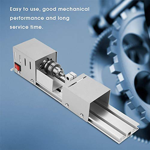 DC 24V Lathe Polisher Machine,Mini Lathe Beads Polisher Machine ,High Precision,Low Noise,Fixing Needle+Carving Knife+Chuck Wrench ,for Home Woodworking, Beads Processing, DIY Handcraft ,etc.