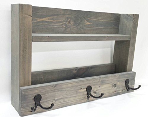 Entry Way Shelf Key Organizer – Coat Rack – Hat Holder – Mail Storage – DavesWoodDesigns