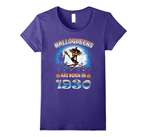 Womens September 1930 - 87th Birthday Gifts Funny Tshirt Large Purple