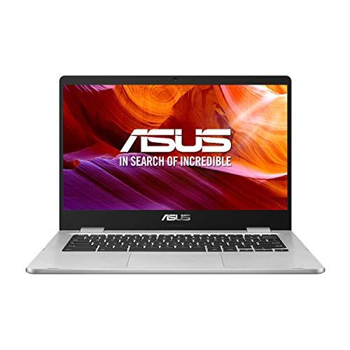 ASUS Chromebook Z1400CN-BV0306 – Ordenador portátil de 14″ HD (Intel Celeron N3350, 4GB RAM, 32GB EMMC, Intel HD Graphics 500, Chrome OS) Plata – Teclado QWERTY Español