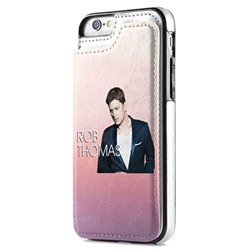 Rob Thomas iPhone 7 iPhone 8 Wallet Case with Card Holder, Premium PU Leather Kickstand Card Slots Case Magnetic Clasp Durable Shockproof Flip Cover