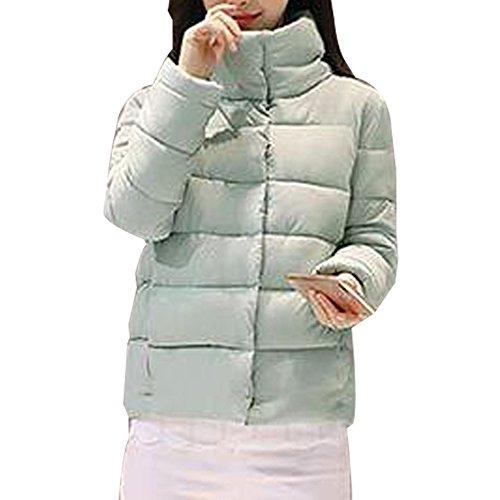 KINDOYO Jacket Stand Collar Warm Coat Warm Autumn Winter Womens Blue