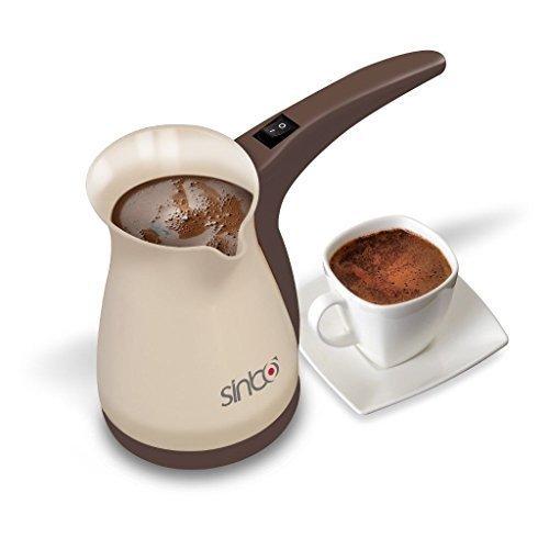 Sinbo SCM 2928 Greek Turkish Coffee Maker Machine Electric Pot Briki Ibrik BROWN by Sinbo by Sinbo