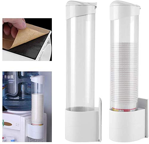 Yosoo Anti Dust Plastic Paper Cup Dispenser for50 Paper Cups 7.5cm Length for 50 Cups Convenient Container