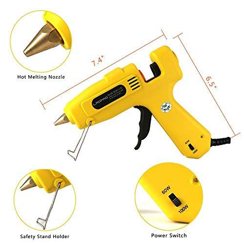 60/100W Glue Gun with Glue Sticks, LAOPAO Full Size Dual Power High Temperature Hot Melt Glue Gun for DIY Small Craft and Quick Repairs (S-802)
