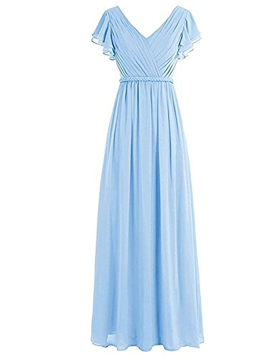 of Leader Kleid Beauty A Linie Damen the Hellblau 1grw1
