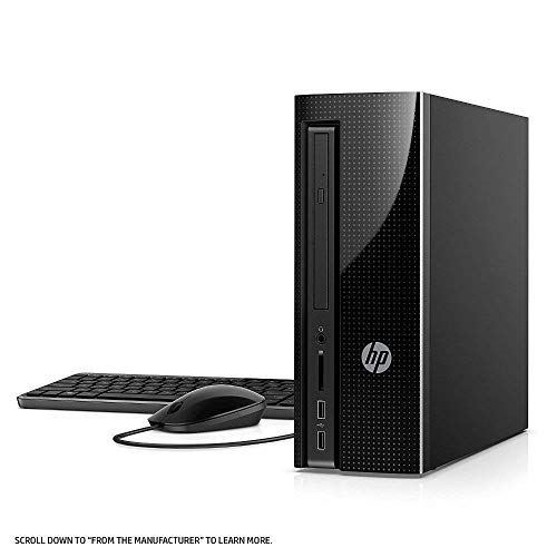 2018 HP Slim 270 High Performance Desktop Tower, Intel Core i3-7100 Processor 8GB Memory 1TB Hard Drive DVD HDMI Writer Wired Keyboard + Mouse, Windows -