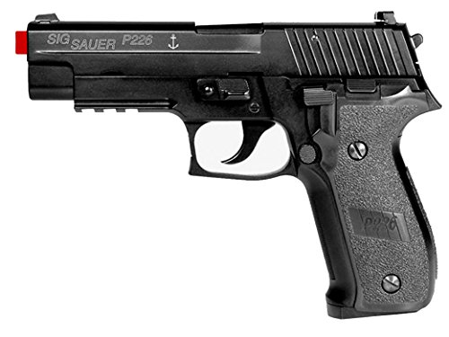 SIG Sauer P226 Navy Full Metal Gas Blowback 6mm (Gun Only) (Airsoft Co2 Gas Blowback Glock)