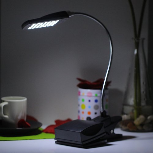 More HDE USB//Battery Powered Flexible Clip-on Travel LED Light for Laptops Computers Books