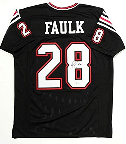 get cheap 64c3e 55118 Marshall Faulk Autographed Jersey - Black College Style ...