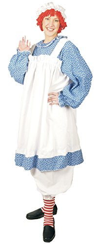 UHC Women's Raggedy Ann Rag Doll Theme Fancy Dress Halloween Plus Size Costume, Plus (Up to 18)