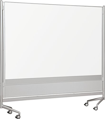 Best-Rite DOC Mobile Whitebooard Room Partition and Display Panel, Double Sided Dura-Rite Markerboard, 6 x 6 Feet - Hh O