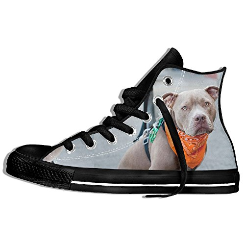 Classic High Top Sneakers Canvas Shoes Anti-Skid Dog Scarf Humor Casual Walking For Men Women Black agTmNOhXJn