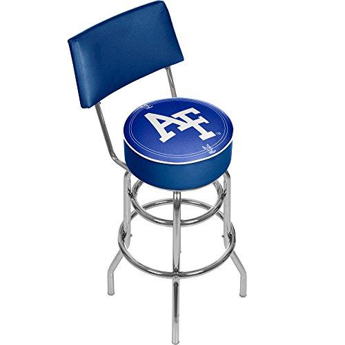 NCAA Air Force Academy Padded Swivel Bar Stool with Back