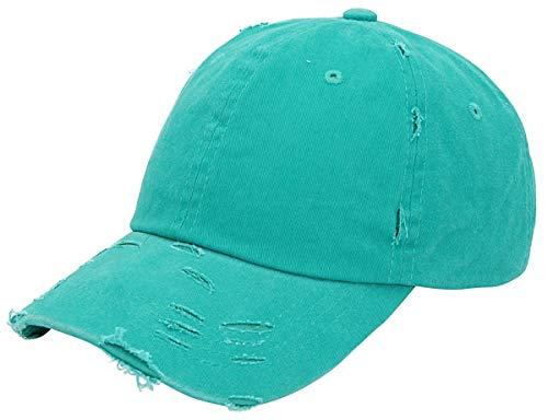 (AZTRONA Baseball Cap Men Women Hat - Unisex 100% Cotton Plain Pigment Dyed,Tuq)
