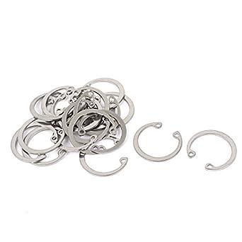 DealMux 23 milímetros Inner Dia Anéis de retenção de retenção Shaft anilhas clipe DIN472 20 PCs: Amazon.com: Industrial & Scientific