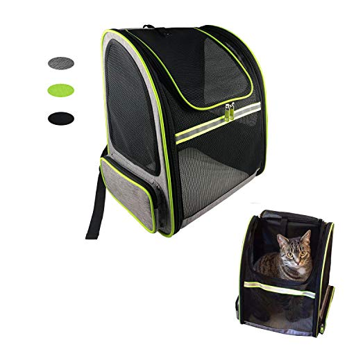 MY-PETS Pet Dog Backpack Carrier for Small Dogs, Cats, Hedgehog, Hands Free Mesh Ventilation Bag Pouch Airline Approved…